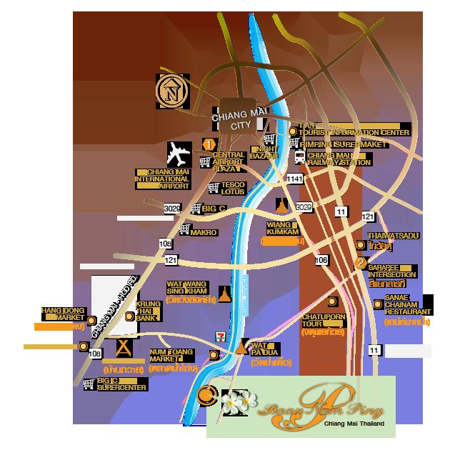 Baan Nam Ping Map